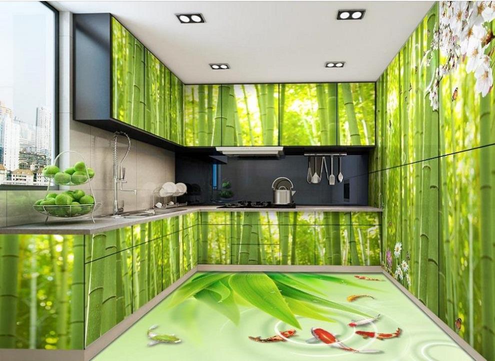 Nhận in trên tấm tủ nhựa đài loan, tấm nhựa pvc, tấm nhựa cảnh cây xanh